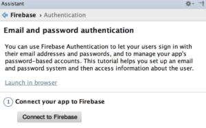 Passo 1: Connect ro Firebase