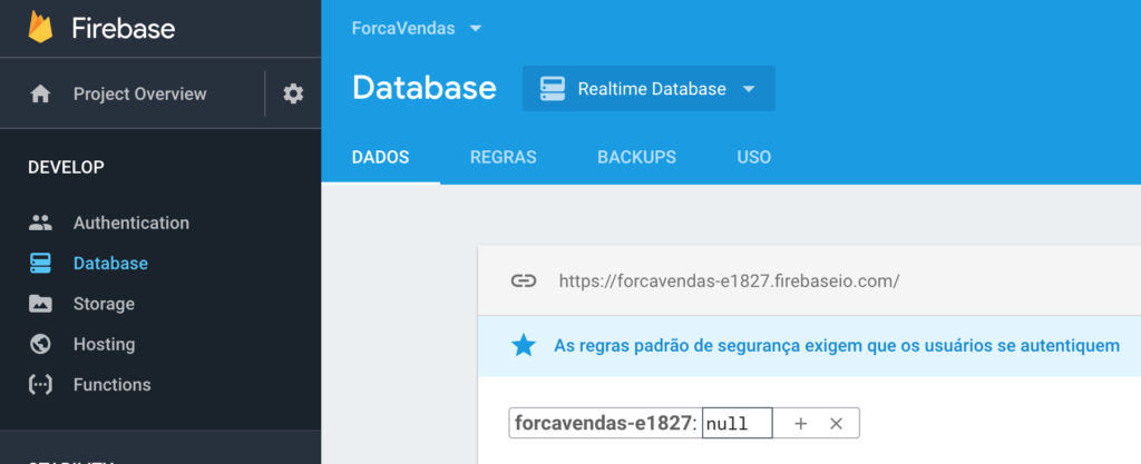 Firebase Realtime Database Authentication