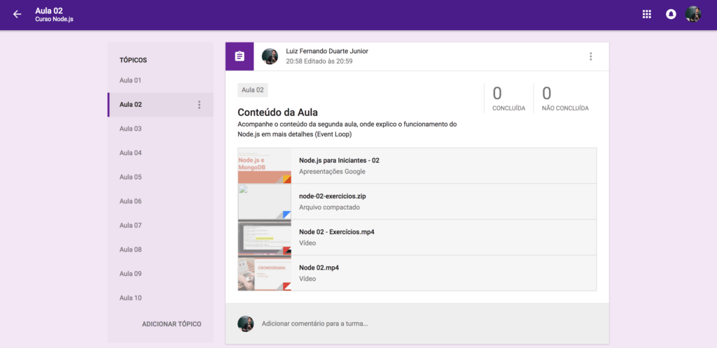Plataforma Google Classroom