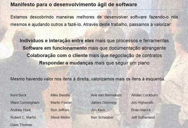 Manifesto Ágil de Software