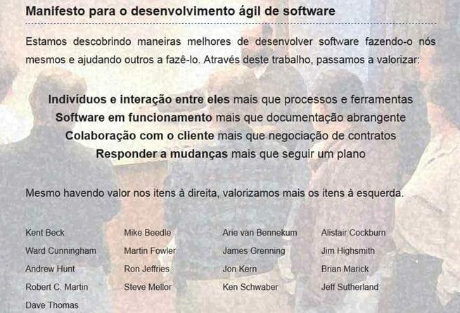 Manifesto Ágil de Software