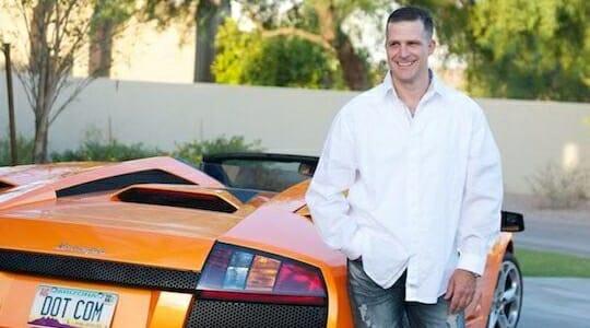 MJ com sua Lamborghini