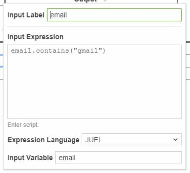 Input Expression