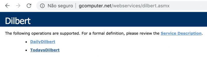Web Service Dilbert