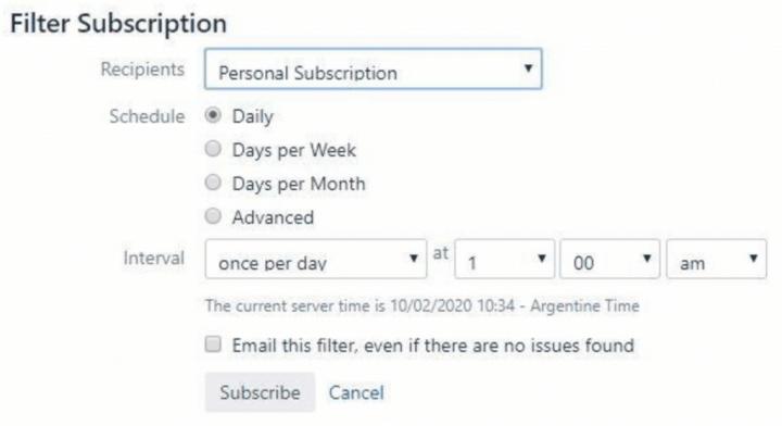 Filter Subscription