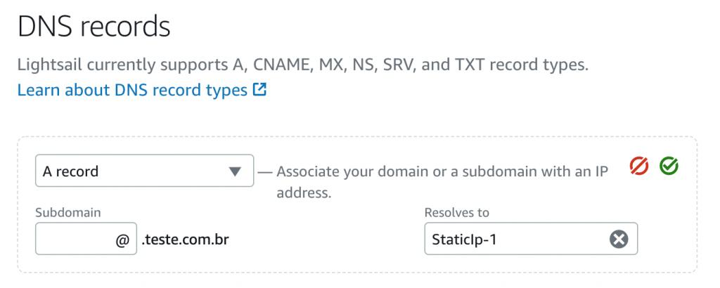 Registro de DNS