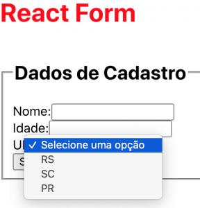 Select dinâmico